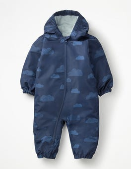 College Blue Clouds Clouds Waterproof Rainsuit