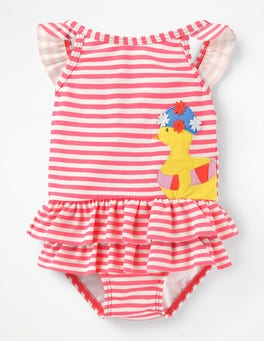 Brush Pink/Ivory Chick Pretty Frill Swimsuit