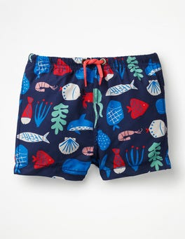 Multi Deep Sea Baby Swim Trunks