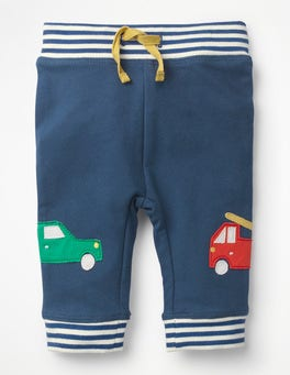 Lagoon Blue Cars Appliqué Patch Trousers