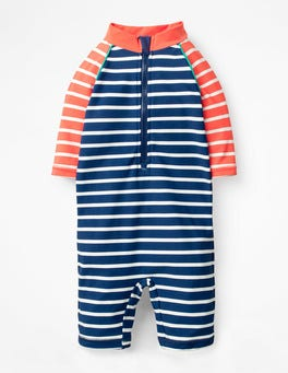 Ivory/Deep Sea Blue Fun Surf Suit