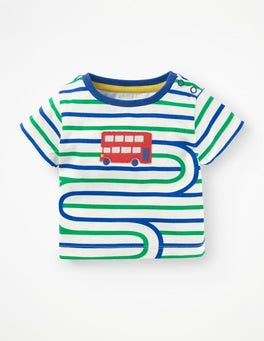 Duke Blue/Astro Green Bus Stripy Transport T-shirt