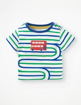 Duke Blue/Astro Green Bus Stripy Transport T-shirt