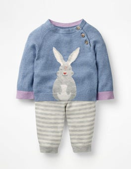 Wren Blue Bunny Bunny Knitted Play Set