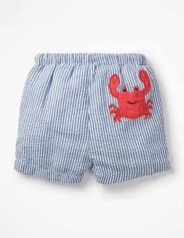 Caspian Blue Ticking Crab Fun Pocket Swim Trunks