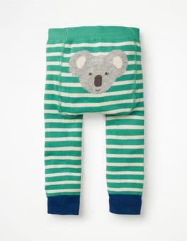 Jungle Green/Ecru Knitted Leggings