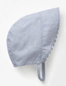 Blue Woven Bonnet
