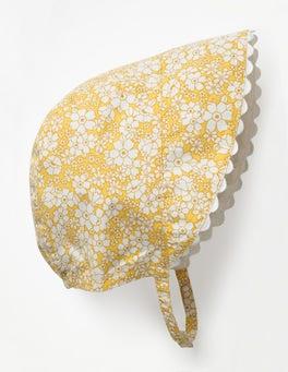 Sunshine Yellow Woven Bonnet