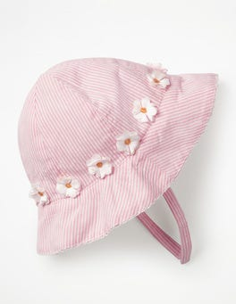 Shell Pink Pretty Woven Hat
