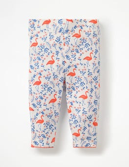 Multi Flamingo Floral Baby Leggings