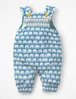Smocked Jersey Dungarees