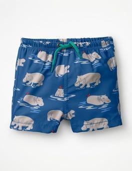 Lake Blue Baby Hippos Baby Swim Trunks
