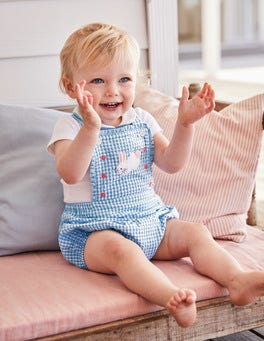 Gingham Romper and Body Set