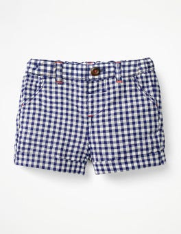 Starboard Blue Gingham Colourful Woven Shorts