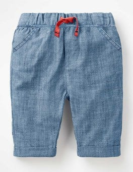Chambray Pull-on Summer Pants