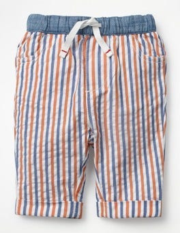 Multi Ticking Pull-on Summer Trousers