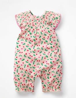 Parisian Pink Cherries Sweet Cherry Romper