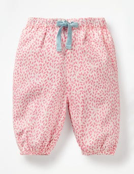 Flamingo Pink Sweet Berry Detailed Woven Pants