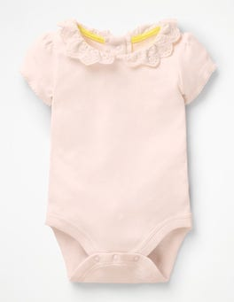 Parisian Pink Detailed Collared Bodysuit