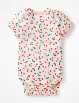 Parisian Pink Cherries Sweet Pointelle Bodysuit