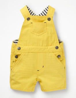 Sweetcorn Yellow Short Woven Dungarees