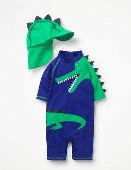 Astro Green Dinosaur Animal Surf Set