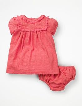 Rosette Pink Broderie Summer Dress