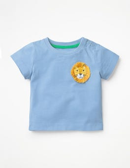 Wren Blue Lion Crochet Friends T-shirt