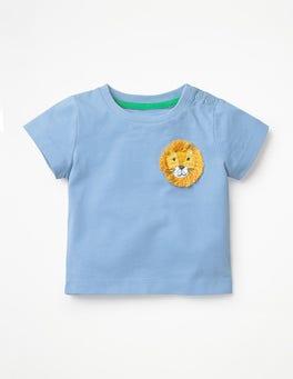 Wren Blue Lion Crochet Friends T-shirt