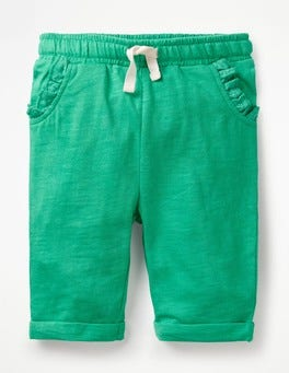 Jungle Green Slub Jersey Trousers