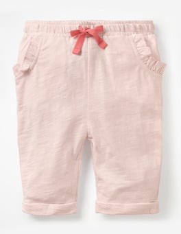 Parisian Pink Slub Jersey Trousers