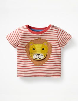 White/Jam Red Lion Animal Adventures T-shirt