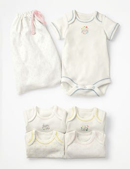 5 Pack Bunnies Bodysuits