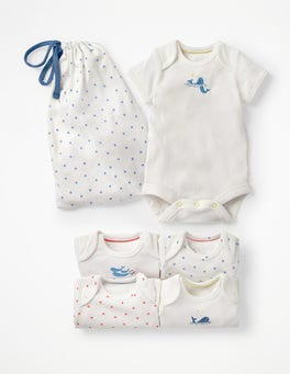 5 Pack Whales Bodysuits