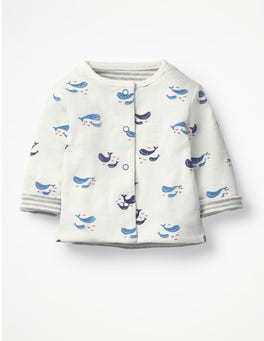 Ivory Baby Whales Whales Reversible Jacket