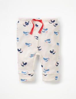Ivory Baby Whales Fun Ribbed Leggings