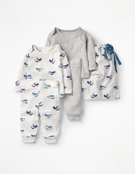 Ivory Baby Whales Whales Cosy Pointelle Pack
