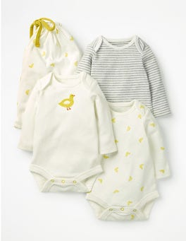 Yellow Baby Ducks 3 Pack Ducks Bodysuits