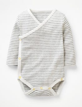 Stripy Wrap Bodysuit