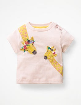 Parisian Pink Giraffes Animal Friends T-shirt