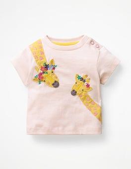 Parisian Pink Giraffes Animal Friends T-shirt
