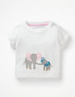 White Elephants Animal Friends T-shirt