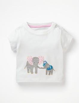 White Elephants Animal Friends T-shirt