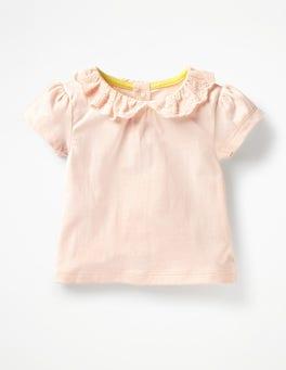 Broderie Collar T-shirt