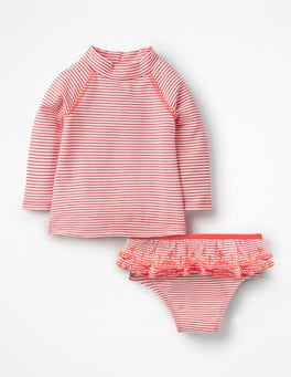 Ivory/Shell Pink Rash Vest Set