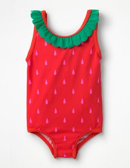 Festival Pink Strawberry Novelty Summer Swimsuit