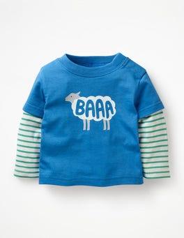 Elizabethan Blue Layered Word T-shirt