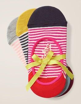 Lot de trois paires de chaussettes invisibles