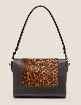 Tan Leopard/Black Stamford Multiway Bag