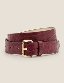 Ruby Ring Croc Classic Buckle Belt